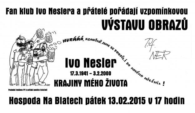 plakat vystava Ivo Nesler 13-02-2015